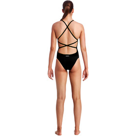 Funkita Strapped In One Piece Swimsuit Damer, still black solid